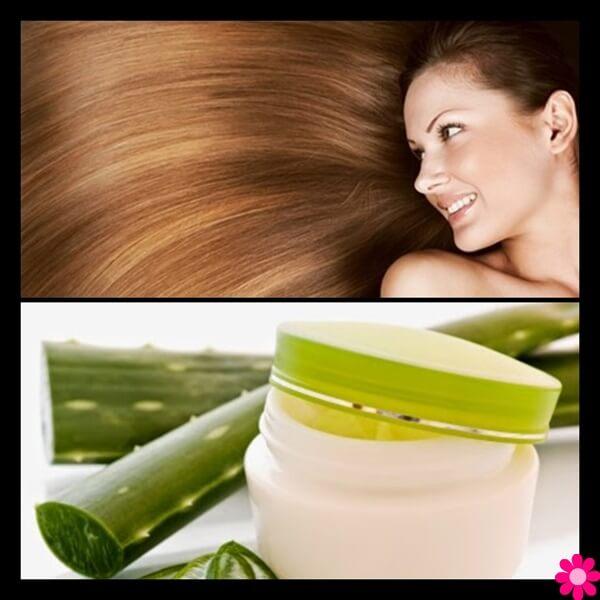 Μάσκα για ξηρά και ταλαιπωρημένα μαλλιά με Aloe vera