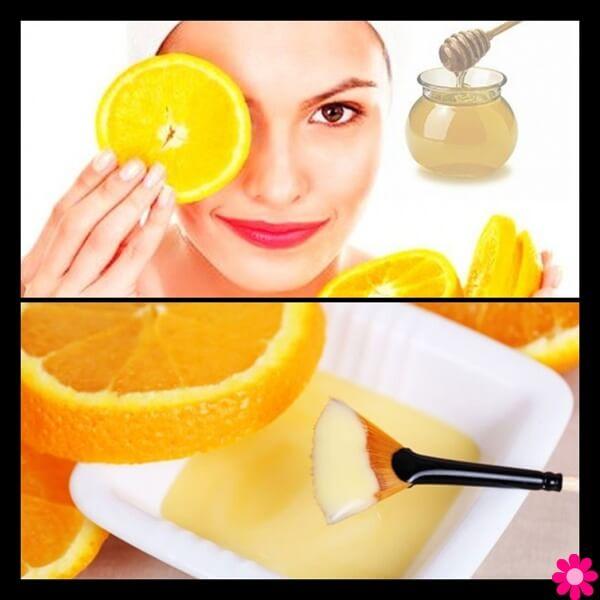 Μάσκες προσώπου με πορτοκάλι