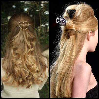 wavy hair with accessories