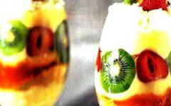 Λαχταριστή κρέμα με φρούτα