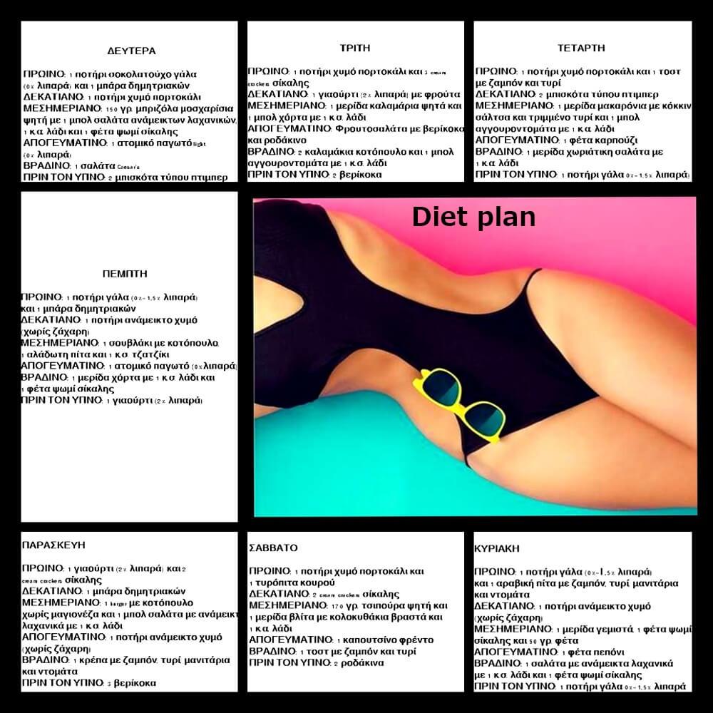 7ήμερο διαιτολογιο