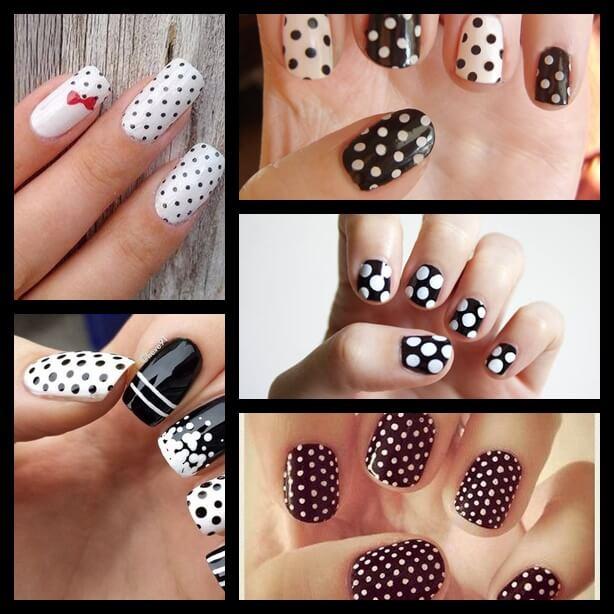 nail art black and white-2