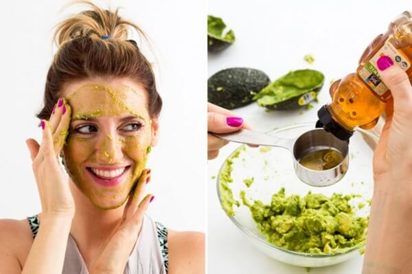 facial mask with avocado and honey(1)