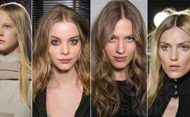 4-Μακρυά μαλλιά με χωρίστρα στη μέση
