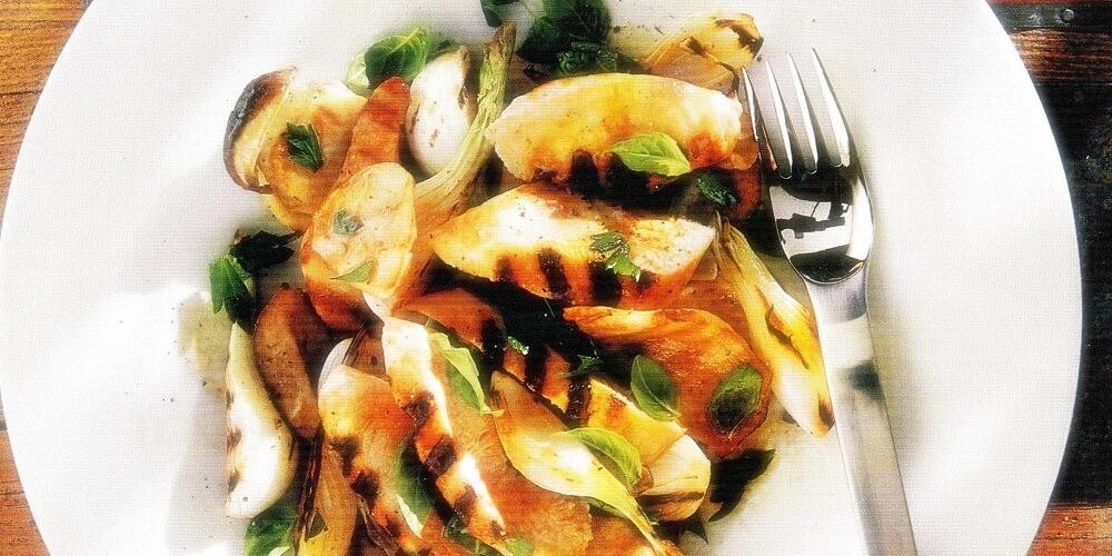 σαλάτα με κοτόπουλο και μανιτάρια-www.beauty-secrets.gr