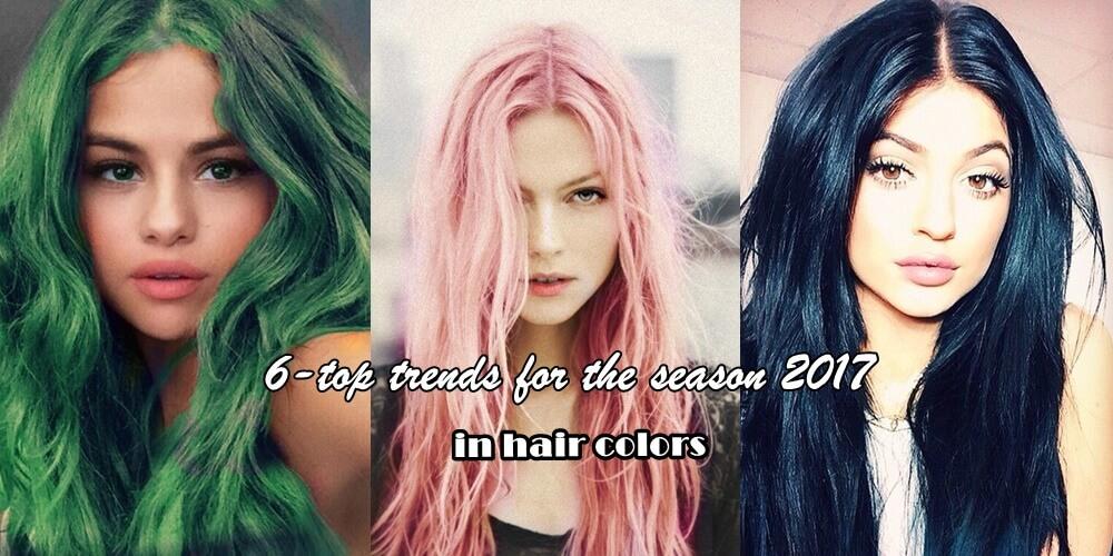 6-top τάσεις για τη σεζόν 2017 στα χρώματα μαλλιών