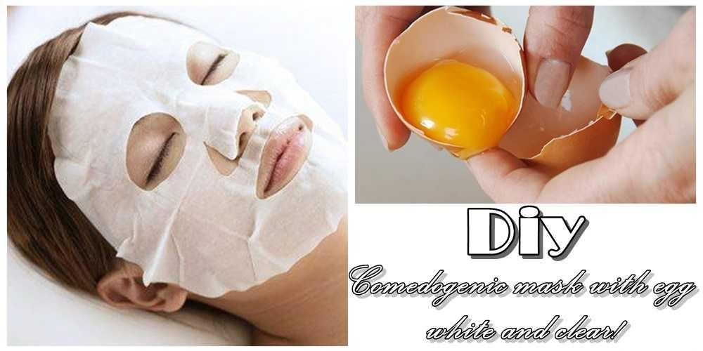 Μαύρα στίγματα;Μια μάσκα με ασπράδι αυγού και καθάρισες!
