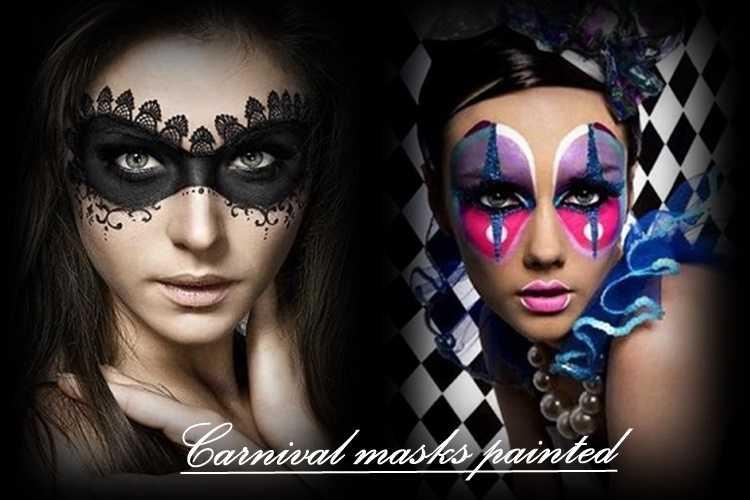 Αποκριάτικες μάσκες ζωγραφισμένες