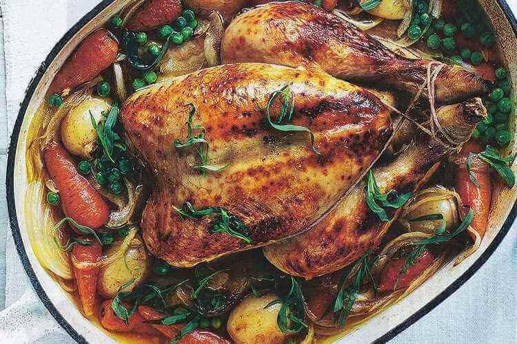Ψητό κοτόπουλο με λαχανικά