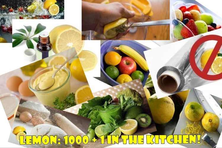 Λεμόνι χρήσεις στην κουζίνα