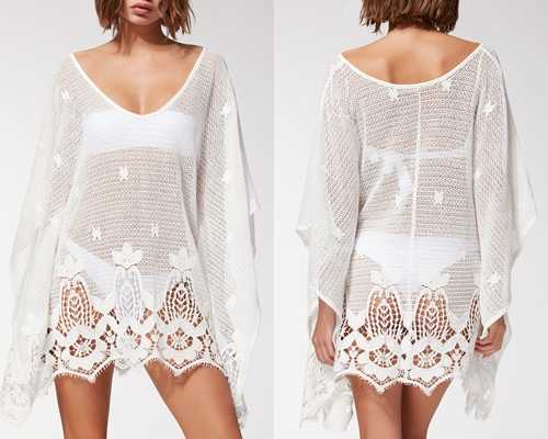 Μεταμόρφωσε ένα ολόσωμο μαγιό σε ενδιαφέρον τοπ φορώντας μια αέρινη φούστα  ένα διάφανο φόρεμα a943f3a7571