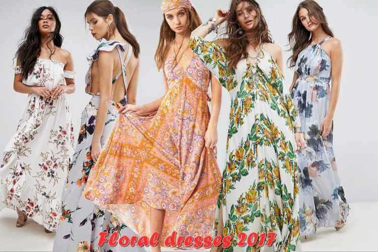 floral φορέματα 2017