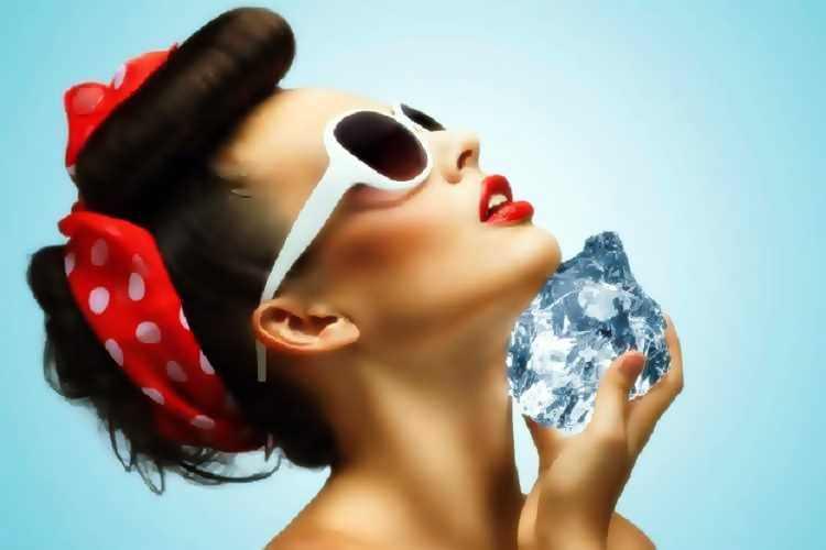 Παγωμένο νερό στο πρόσωπο