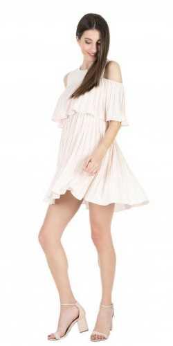 Γυναικείο μίνι φόρεμα 'ALE nude με βολάν
