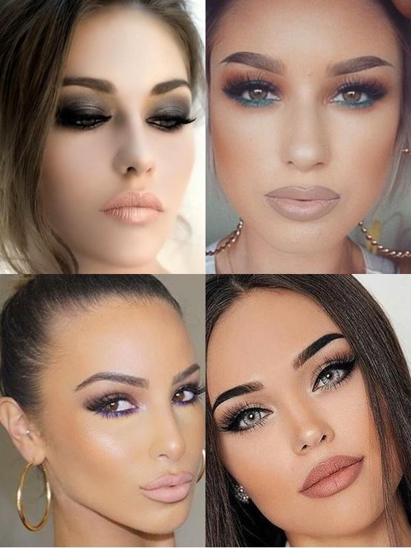 Soft smokey makeup