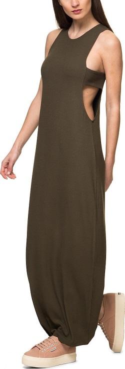 Γυναικείο maxi φόρεμα από την Silvian Heach σε χακί χρώμα