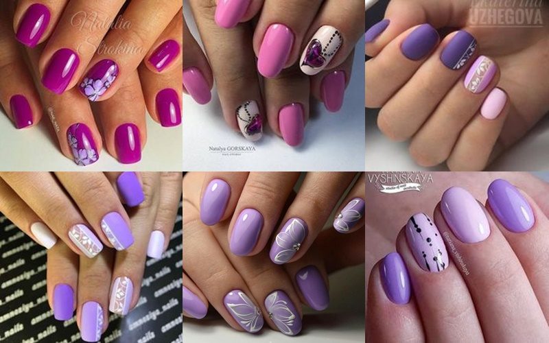 Μοβ καλοκαιρινά χρώματα νυχιών