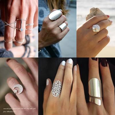 Πως συνδυάζονται τα κοσμήματα:Δαχτυλίδια
