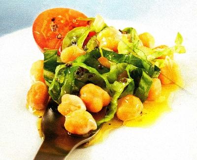 Ρεβίθια σαλάτα με μανιτάρια