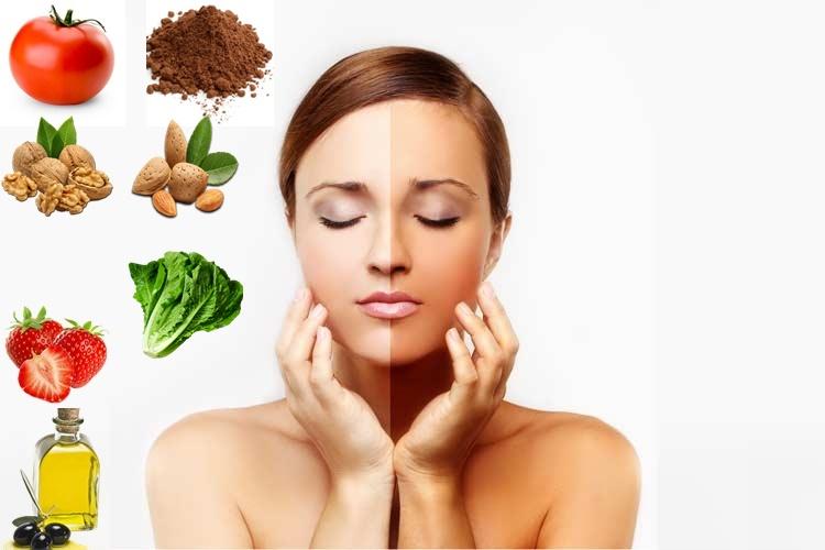 6+1 τροφές για λαμπερό δέρμα με αντιγηραντική και αντιοξειδωτική δράση