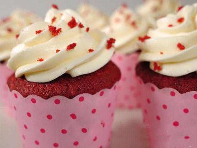 Χριστουγεννιάτικα Red Velvet Cupcakes