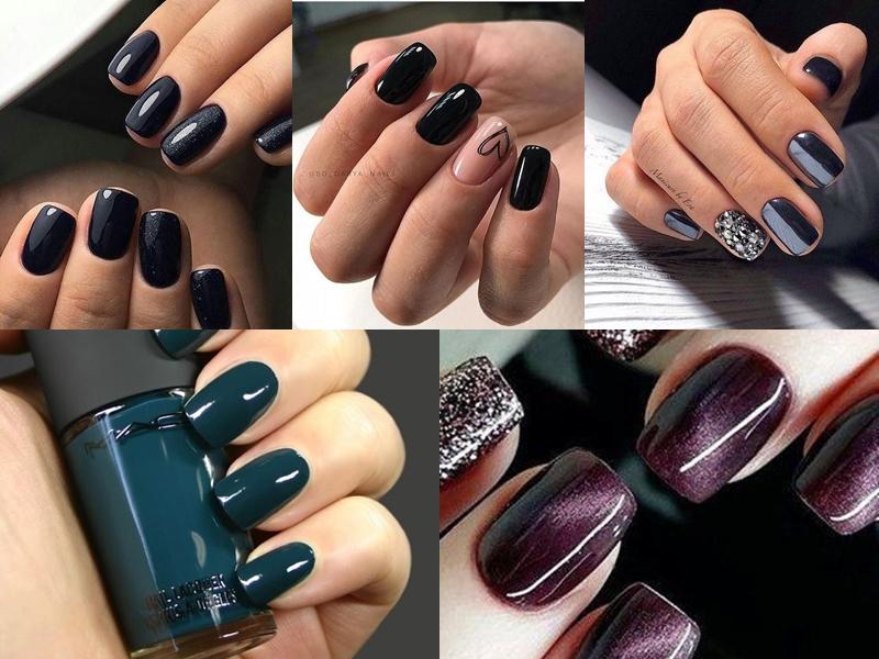 Σκούρα χρώματα στα νύχια