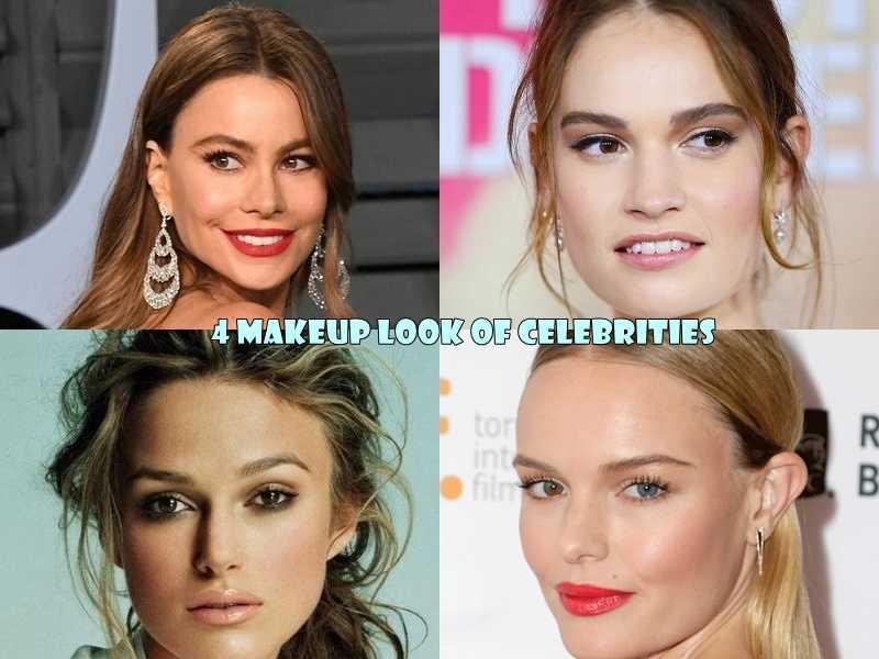makeup look των celebrities