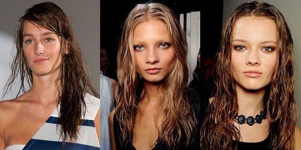 Wet look για μακριά μαλλιά για sexy girl