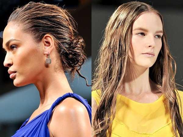 Wet look για μακριά μαλλιά: Δες όλες τις ανοιξιάτικες και καλοκαιρινές τάσεις!