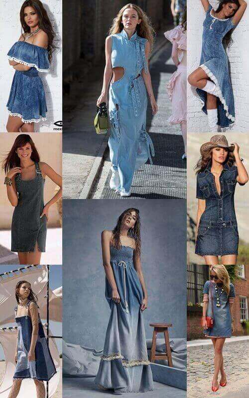 jeans φορέματα