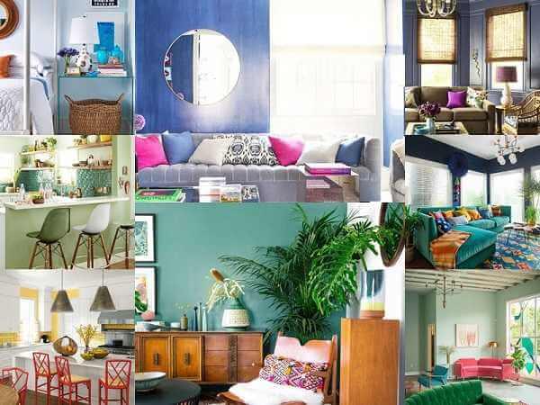 Οργάνωση και διακόσμηση σπιτιού με έντονα χρώματα