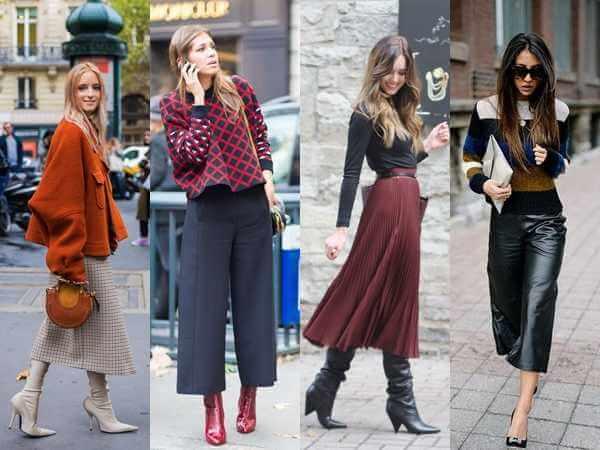 Χειμερινά outfits 2020 με midi φούστα και jupe culotte!