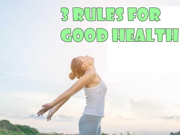 3 κανόνες για καλή υγεία για μια δυναμική χρονιά!