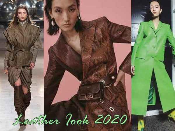 Leather Iook 2020,το αγαπημένο υλικό της μόδας!