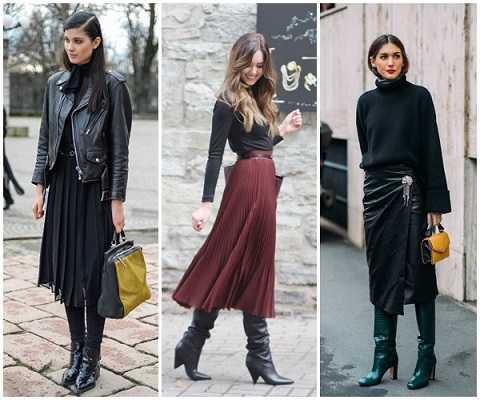 Χειμερινά outfits 2020 με midi φούστα-1