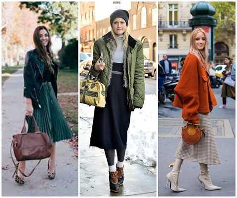 Χειμερινά outfits 2020 με midi φούστα-3