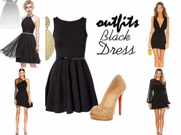 28 outfits με μαύρο φόρεμα για ρεβεγιόν πρωτοχρονιάς