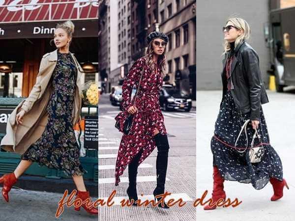 floral χειμωνιάτικο φόρεμα: Η μόδα δεν έχει εποχές!