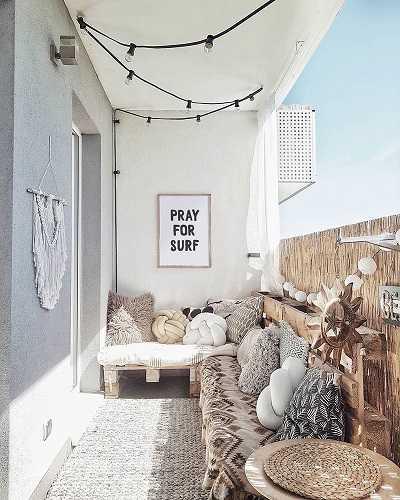 Χρησιμοποιήστε το χώρο στον τοίχο απ΄το μπαλκόνι