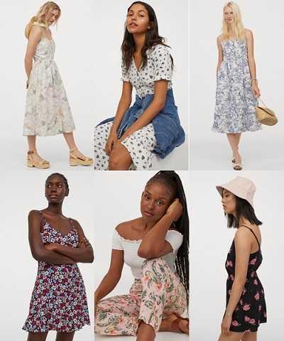 Φλοράλ ρούχα H&M καλοκαίρι 2020