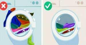 Φορτωμένο πλυντήριο με πολλά λερωμένα ρούχα