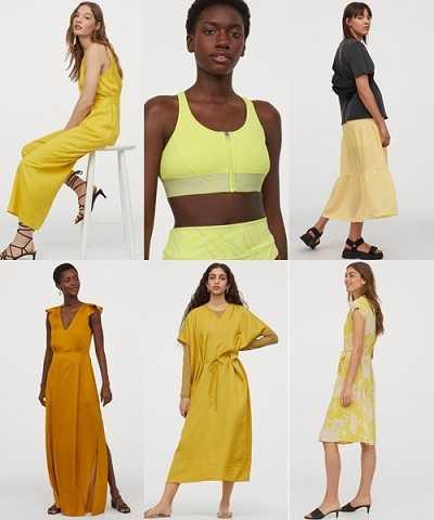 Καλοκαιρινά ρούχα H&M σε κίτρινες αποχρώσεις
