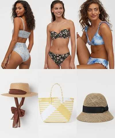 Μαγιό,καπέλα,τσάντες H&M καλοκαίρι 2020