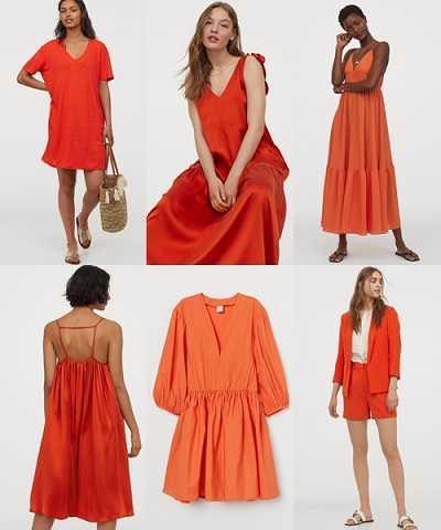 Πορτοκαλί ρούχα H&M καλοκαίρι 2020