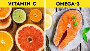 Τρώγε τρόφιμα πλούσια σε βιταμίνη C και λιπαρά οξέα