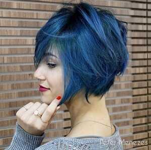Ογκώδες και τολμηρό μπλε bob