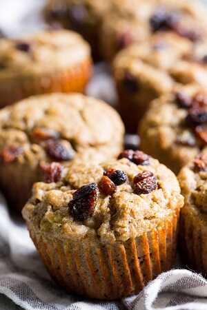 Muffins με σταφίδες