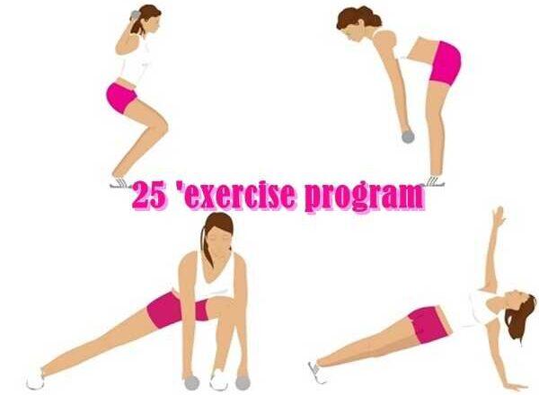 25′ πρόγραμμα ασκήσεων για να απαλλαγούμε από το λίπος!