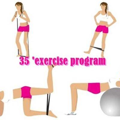 35'πρόγραμμα ασκήσεων για να παλέψουμε με το λίπος!