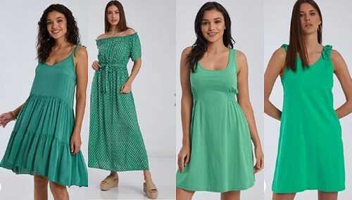 Πράσινα ανοιξιάτικα φορέματα